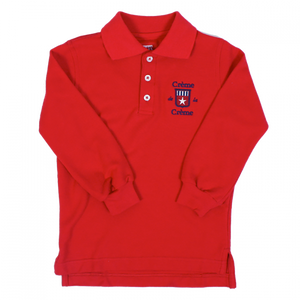 BOY'S LONG SLEEVE POLO - RED