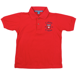 YOUTH SILK TOUCH  SHORT SLEEVE POLO - RED