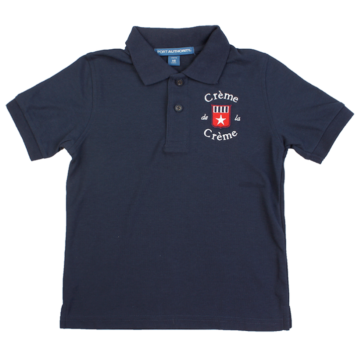 YOUTH SILK TOUCH SHORT SLEEVE POLO - NAVY