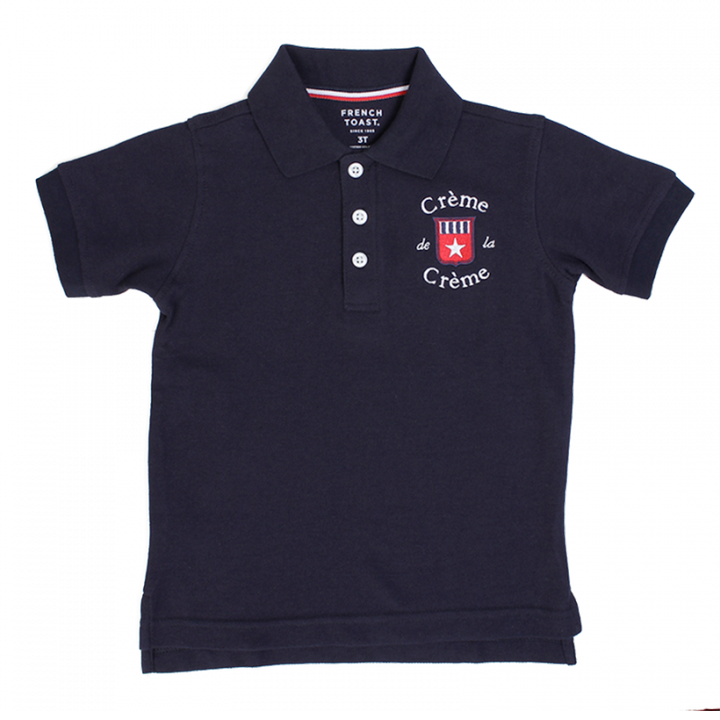 BOY'S SHORT SLEEVE POLO - NAVY