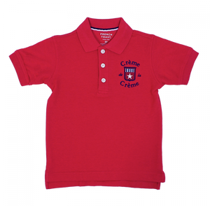 BOY'S SHORT SLEEVE POLO - RED