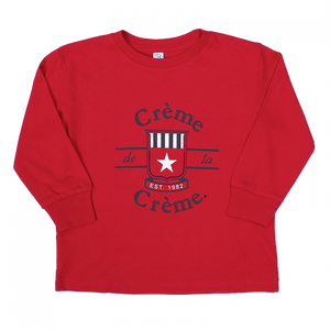 TODDLER LONG SLEEVE T-SHIRT - RED