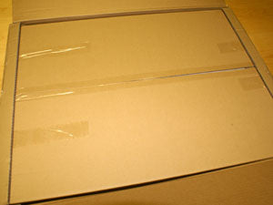 Inner mirror packaging opened