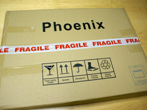 Package resealed with fragile tape
