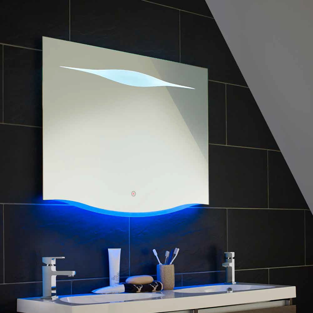 Hudson Reed Iona Blue Ambient Led Mirror Bathroom