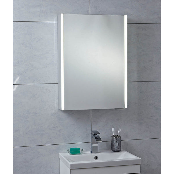 Phoenix Saturn Single Door LED Mirror Cabinet