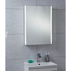Phoenix Saturn Single Door Lightband Mirror Cabinet