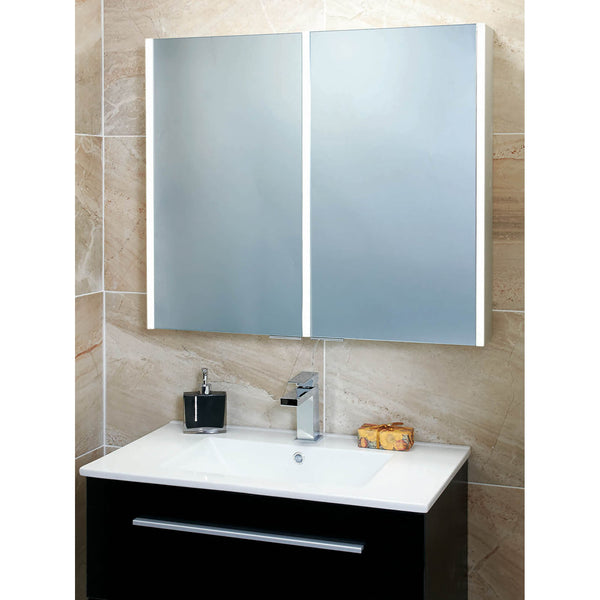Phoenix Saturn Twin Door LED Mirror Cabinet