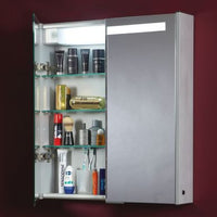 Double cabinet shown with LH door open