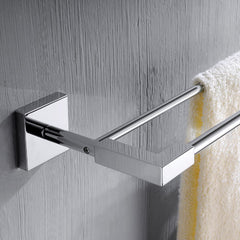 Phoenix Square Chrome Towel Bar