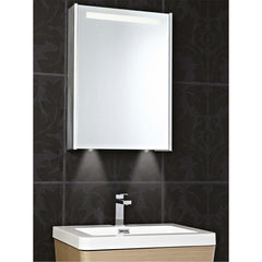 Phoenix Mercury 520mm Wide Single Door Aluminium Mirrored Cabinet