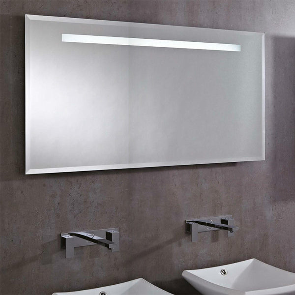Lighted Bathroom Wall Mirror Large: Phoenix Pluto Large Rectangular Heated Demist LED Bathroom