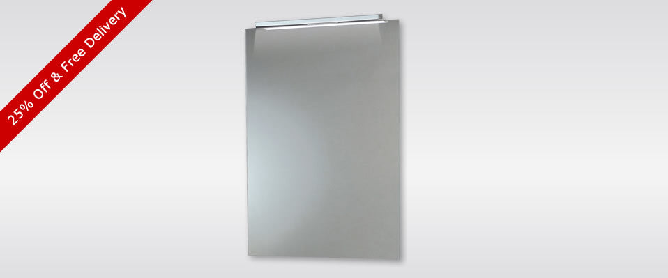 Phoenix Apollo Mirror With Down Lighter 25% Off & Free Delivery