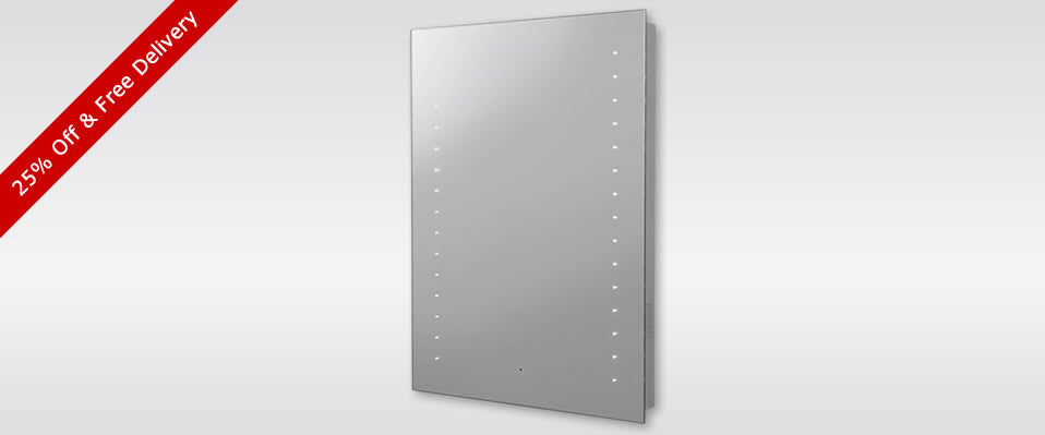 Hudson Reed Corona Bluetooth Mirror 25% Off & Free Delivery