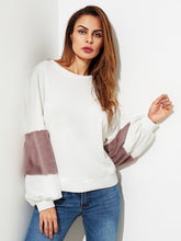 Load image into Gallery viewer, Fuzzy Sleeve Pullover