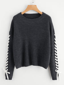 Contrast Whipstitch  Sweater