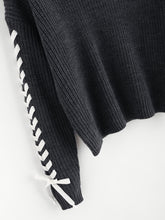 Load image into Gallery viewer, Contrast Whipstitch  Sweater
