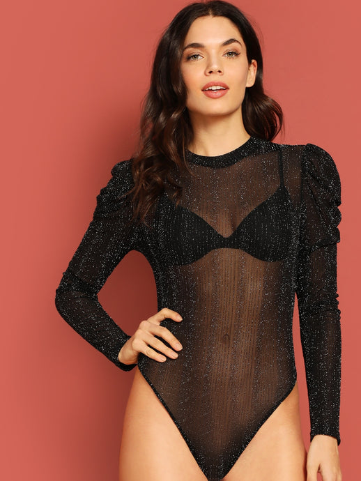 Sheer Glitter Bodysuit