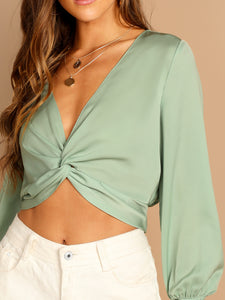 Twist Crop Blouse