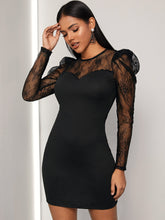 Load image into Gallery viewer, Mesh Keyhole Back Bodycon Dress