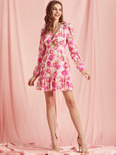 Load image into Gallery viewer, Cu-out Ruffle Floral Dress