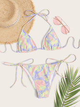 Load image into Gallery viewer, Halter Tie Side Bikini