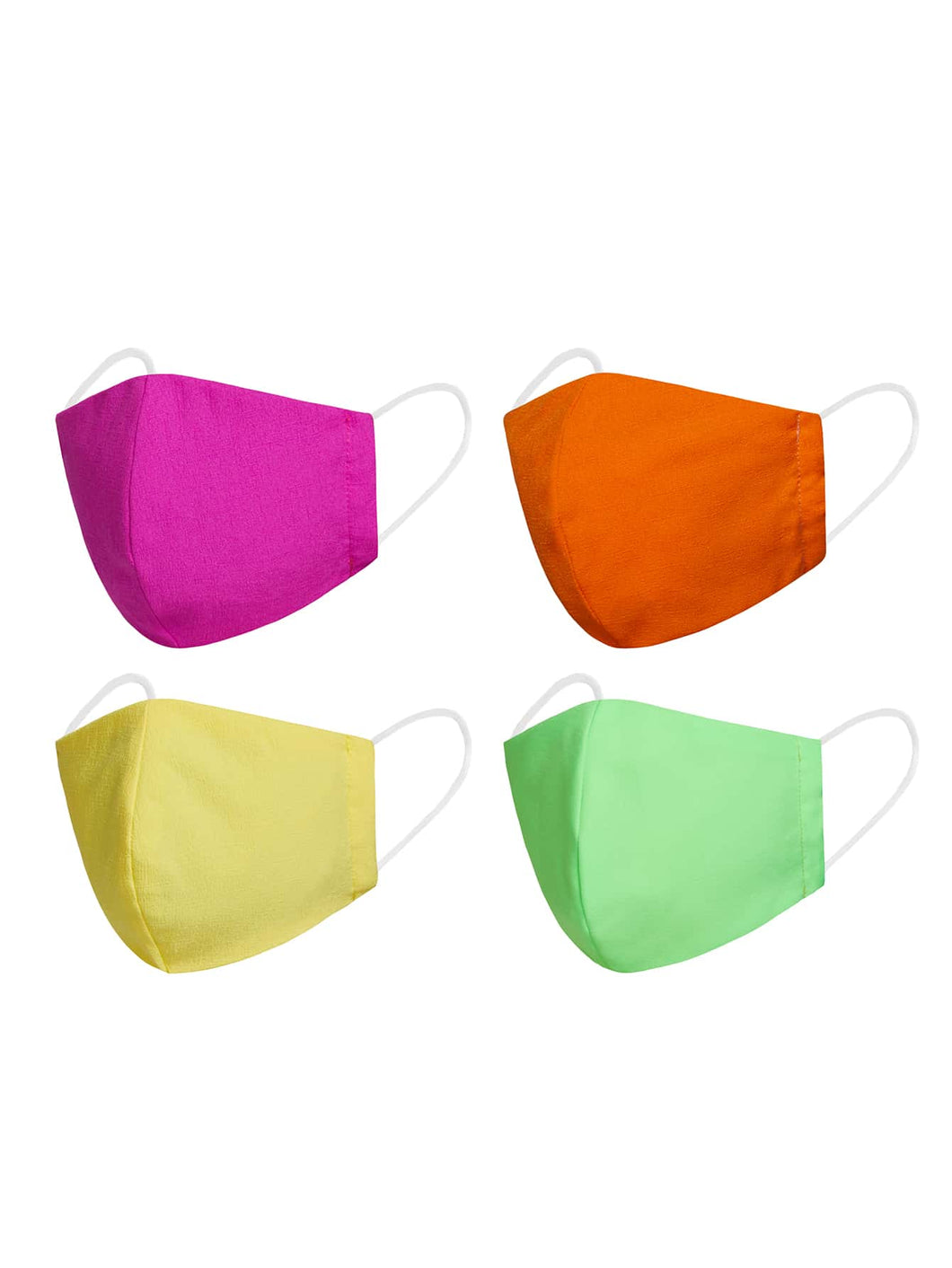 4pcs Solid Face Masks