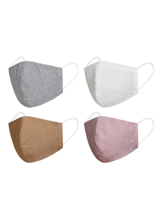 4pcs Striped Face Masks