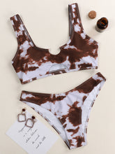 Load image into Gallery viewer, Tie Dye Cut-out Bikini