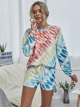 Load image into Gallery viewer, Tie Dye Sweatshirt & Knot Front Shorts