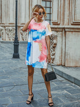 Load image into Gallery viewer, Tie Dye Tee Dress