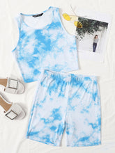 Load image into Gallery viewer, Tie Dye Tank Top & Biker