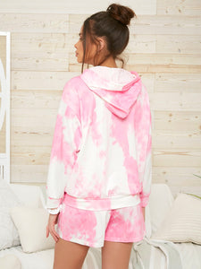 Tie Dye Drawstring Hooded