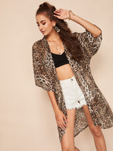 Load image into Gallery viewer, FRONT LEOPARD PRINT KIMONO
