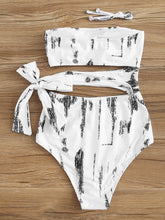 Load image into Gallery viewer, CUT-OUT SIDE BANDEAU ONE PIECE SWIMWEAR