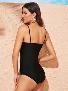 SPAGHETTI STRAP ONE PIECE SWIMSUIT