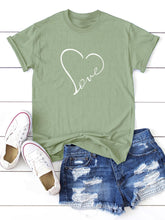 Load image into Gallery viewer, HEART PRINT TEE