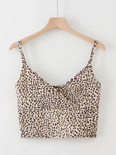 Load image into Gallery viewer, LEOPARD PRINT SURPLICE FRONT CAMI TOP