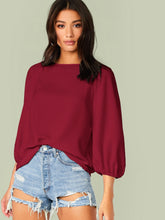 Load image into Gallery viewer, SOLID RAGLAN SLEEVE TOP