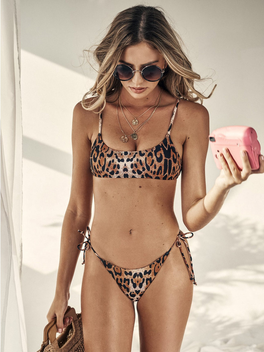 SPAGHETTI STRAP TOP WITH TIE SIDE BIKINI