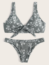 Load image into Gallery viewer, FLORAL KNOT FRONT BIKINI SET