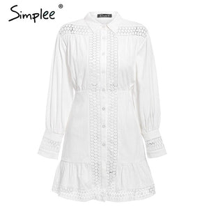RUFFLE A- LINE WHITE SHORT DRESS