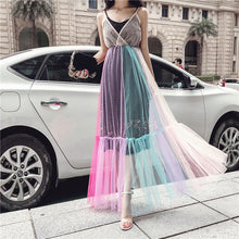 Load image into Gallery viewer, MAXI DRESS GRADIENT RAINBOW