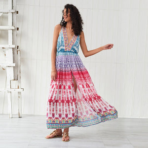 MAXI DRESS GRADIENT RAINBOW