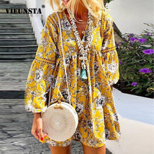 Load image into Gallery viewer, AUTUMN BOHO DRESS