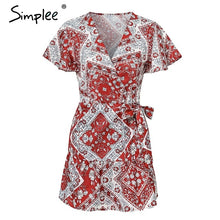 Load image into Gallery viewer, summer dress women Ruffled short sleeve sashes mini dress