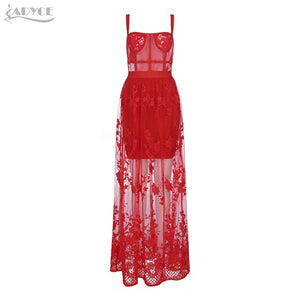 RED LACE AGHETTI DRESS