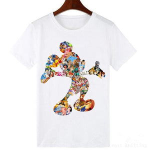 Fashion Harajuku T-shirt Summer Women Lovely Cartoon O-Neck Casual Short Sleeve T-Shirt