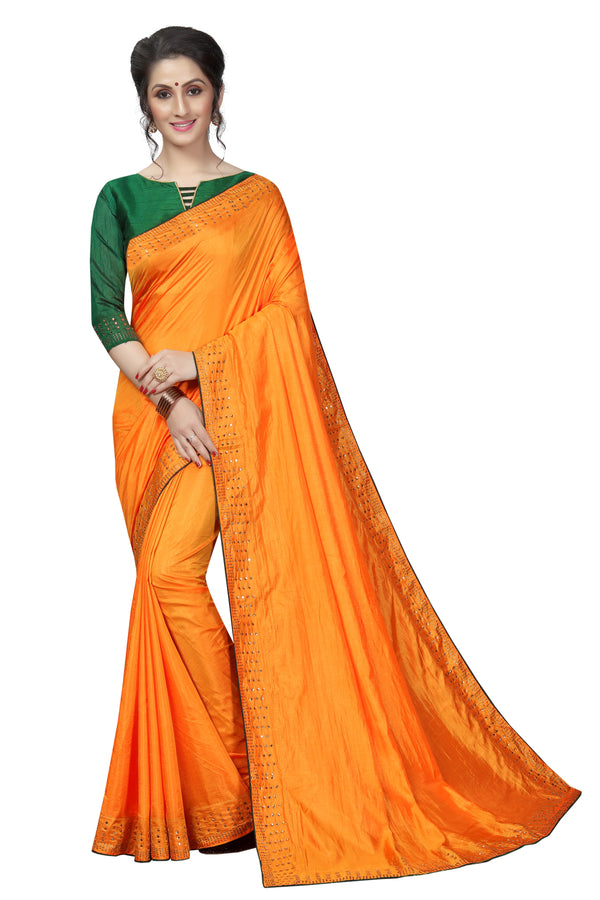 Opulent Yellow Colored Partywear  Pure Sanna Silk  Dimond Work  Saree