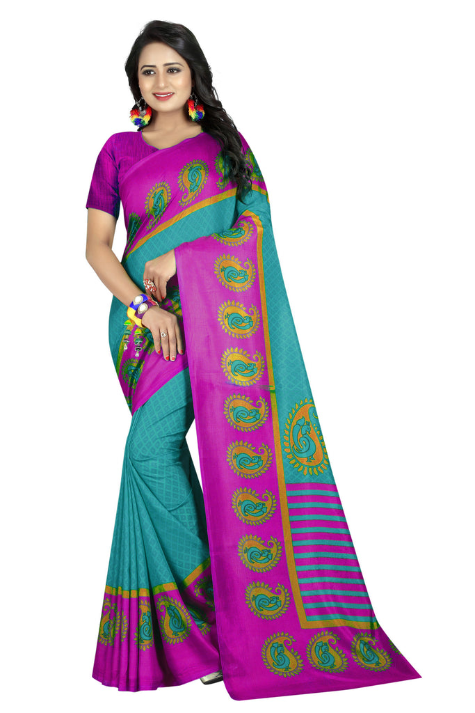 Charming Rama Art Silk With Printed Designer Saree
